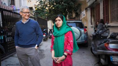 Apple partners with Malala Yousafzai to fund girls' education