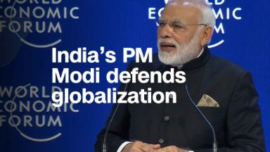 India's PM Modi defends globalization