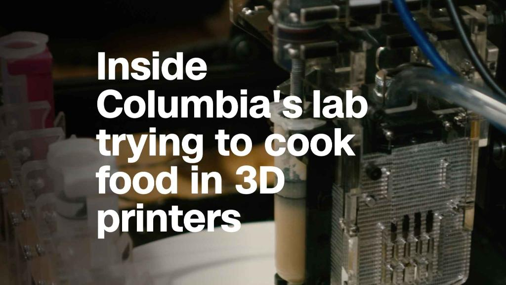 Inside Columbia's lab trying to cook food in 3D printers