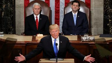 Trump claims his State of the Union ratings were highest ever. Obama, Bush and Clinton had higher