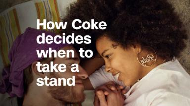 How Coke decides when to take a stand