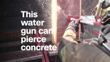 This water gun can pierce concrete