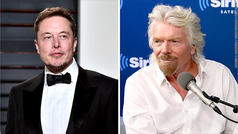Richard Branson is 'jealous' of Elon Musk's rocket launch
