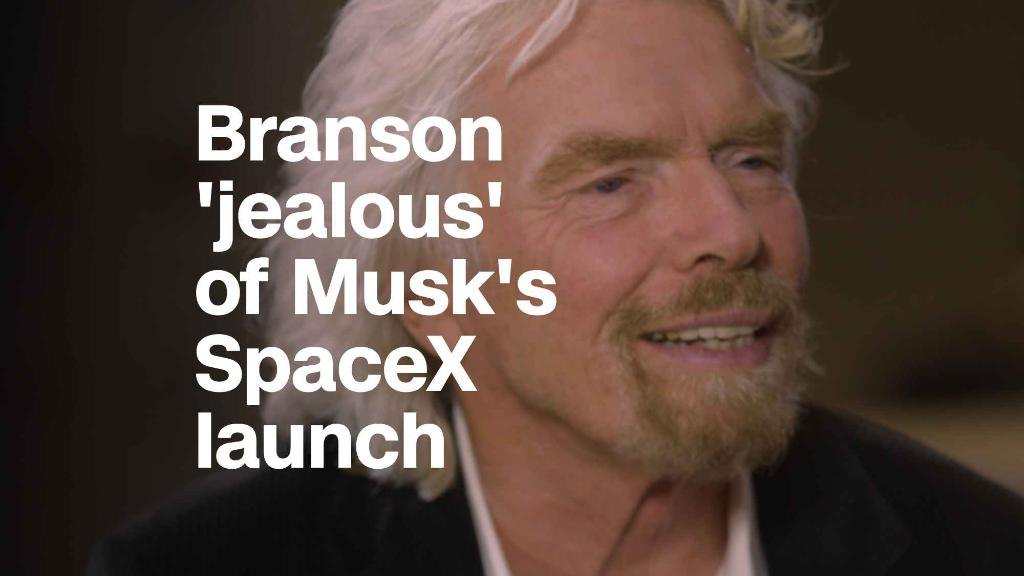 Richard Branson is'a little jealous of Musk's launch