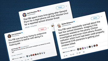 Casting blame on Russia probe, far-right fumes at FBI in aftermath of Florida shooting
