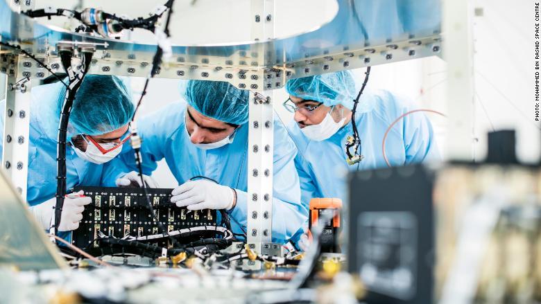 Dubai space center engineers