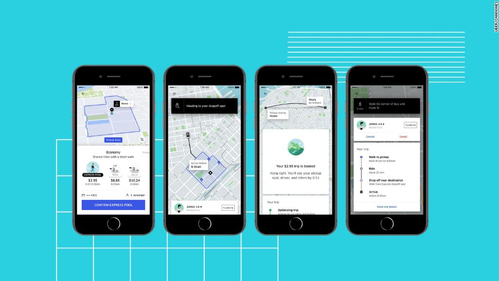Uber Express Pool competes with the city bus