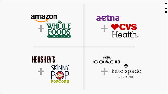 Amazon and Whole Foods. CVS and Aetna. A scorecard of the biggest deals