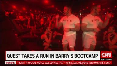 Beaten by Barry's Bootcamp before breakfast, Mr. Quest?