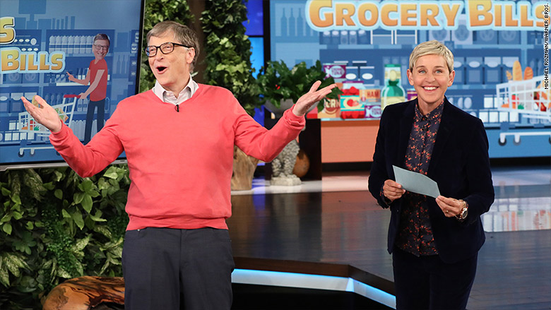 Bill Gates flunks Ellen's grocery shopping challenge