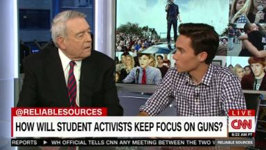 David Hogg meets Dan Rather