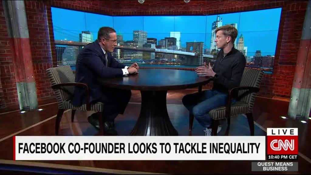 Facebook Co-Founder Chris Hughes looks to tackle inequality