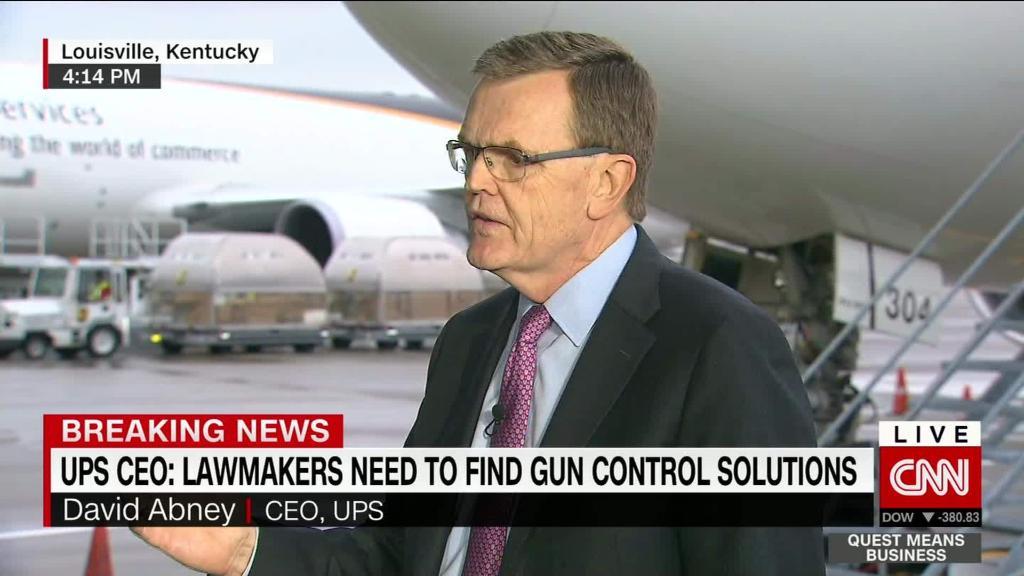 UPS chief addresses gun policy