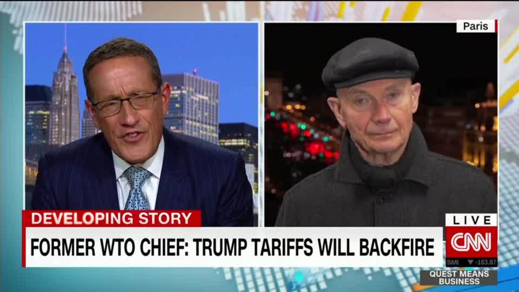 Former WTO boss says Trump's tariffs will backfire