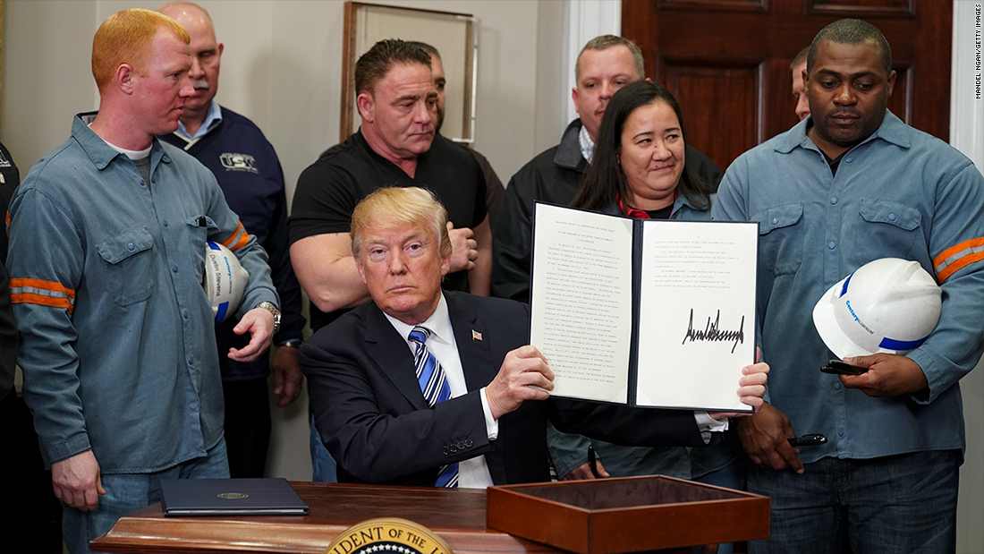 Trump grants tariff exemptions for EU and others on steel and aluminum