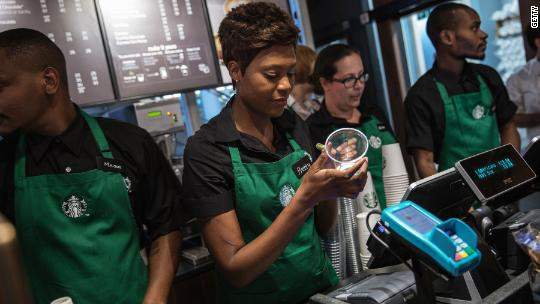 Starbucks achieves pay equity in the United States