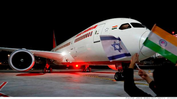 Air India completes historic first flight to Israel over Saudi skies