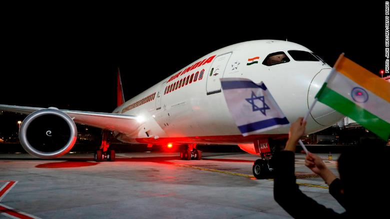 Air India completes historic flight to Israel