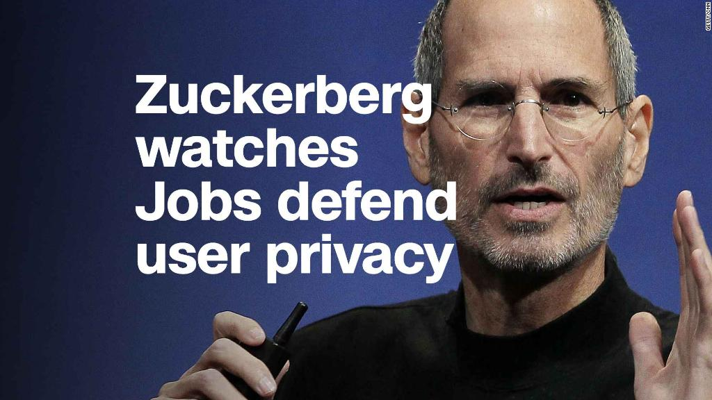 Watch: Steve Jobs championed privacy. Zuckerberg was in the audience.