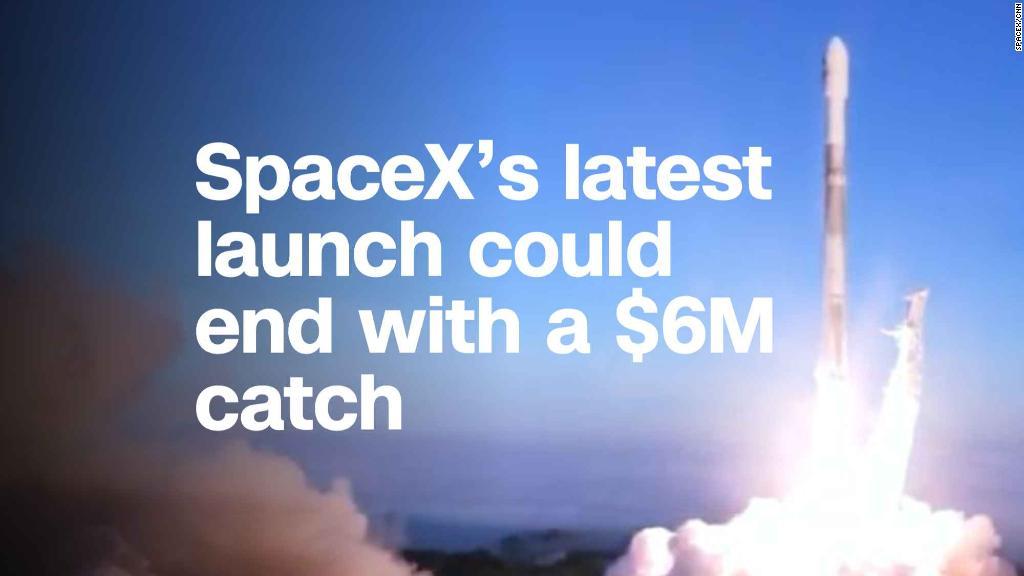 Peluncuran terbaru SpaceX bisa berakhir dengan tangkapan $ 6 juta