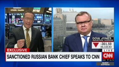 Exclusive: VTB Chairman speaks out after being hit by U.S. sanctions