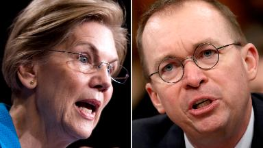 Elizabeth Warren to CFPB's Mulvaney: 'You are hurting real people'