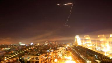 Syria strikes change the subject in the media, at least temporarily