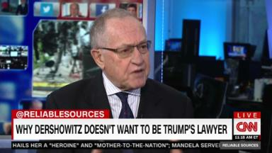 What Dershowitz is telling the president