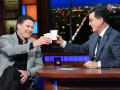 Stephen Colbert and James Comey talk Trump and Russia over Pinot Noir