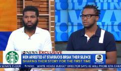 Two men arrested at Starbucks demand change