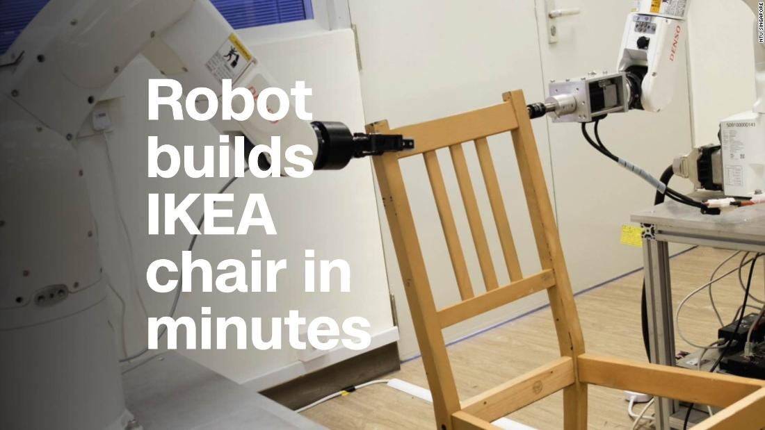 Watch This Robot Assemble An IKEA Chair In Minutes   Video   Business News