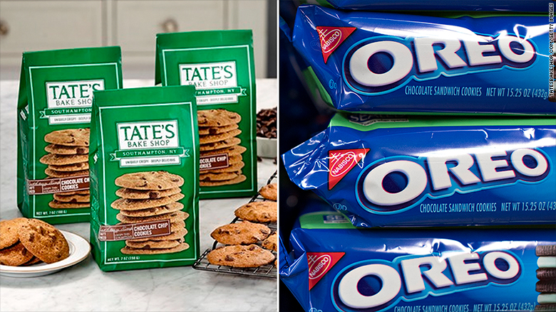 Oreo maker scoops up Tate's chocolate-chip cookies