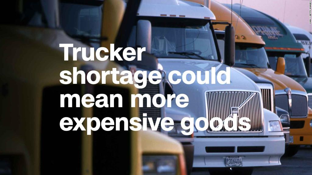 Truck driver shortage sends shipping costs sky-high | CNN Money
