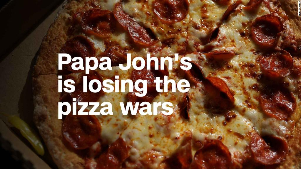 Papa John's is losing the pizza wars. Big time.