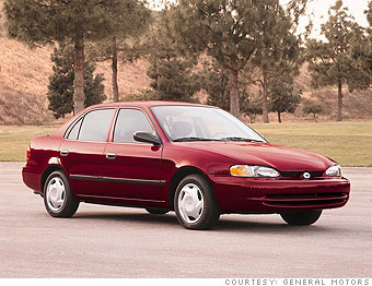 1998 - 2002 Chevrolet Prizm