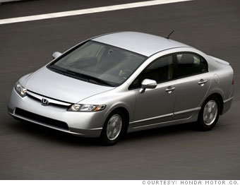 Winner (by a hair): Honda Civic Hybrid