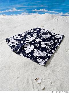 Island Company's Navy Floral Board Shorts