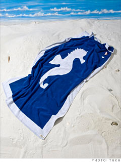 Seaton's Seahorse Beach Towels 