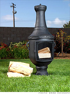 Wonderful Blue Roosteru0027s Venetian Chiminea