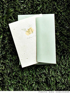 Green Field Paper's Grow A Note Cards