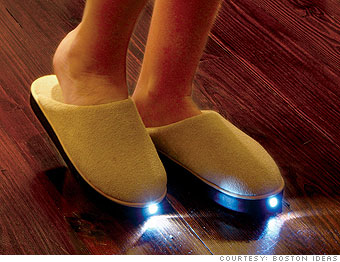 Boston Ideas' Brightfeet's Lighted Slippers