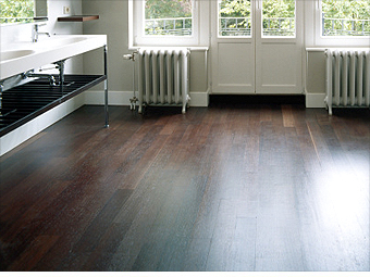 Dramatic hardwood floors
