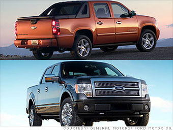 Large Truck: Ford F-150, Chevrolet Avalanche