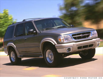 8 hot cars Class of 2000  Class Leader Ford Explorer 3
