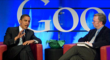 Diary of a love affair: Obama and Google
