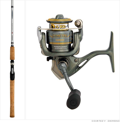 fishing rod and reel. Fishing rod