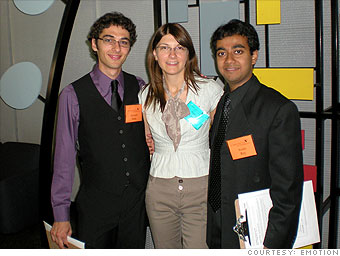 Co-founder Ed Suda, Web Manager Anica Jovanova and co-founder Avelo Roy