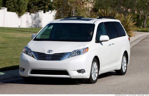 10. Toyota Sienna