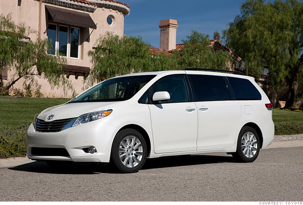consumer reports most reliable cars minivan wagon toyota sienna v6 5. Black Bedroom Furniture Sets. Home Design Ideas