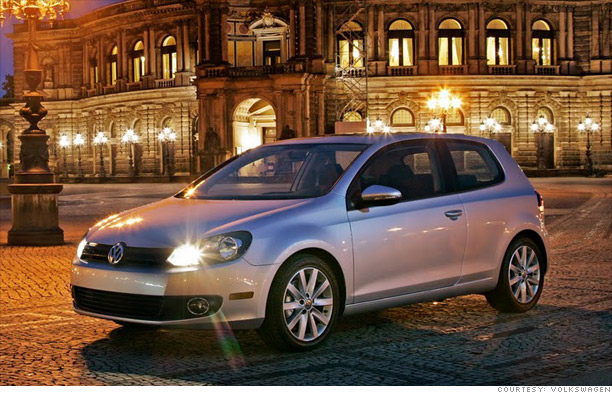 Hybrid/Alternative-fuel car: Volkswagen Golf TDI